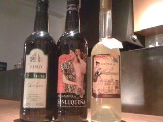 新しいシェリー酒と花火